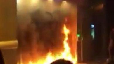 Photo of بالفيديو: احراق مكتب شركة UFA للتأمين